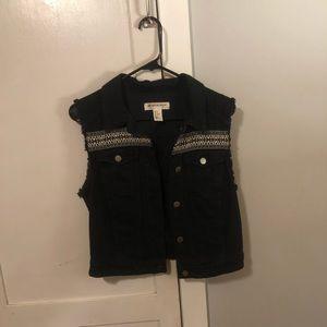 H&M Coachella edition Black denim vest